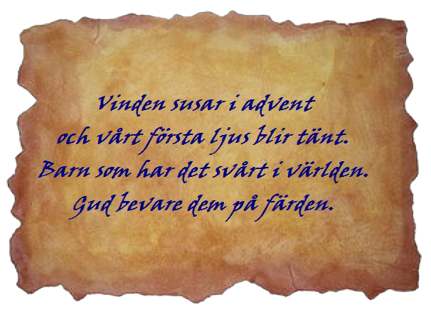 Bildresultat för första advent dikt
