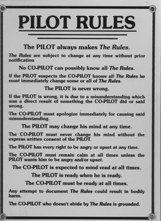 flyg pilotregler