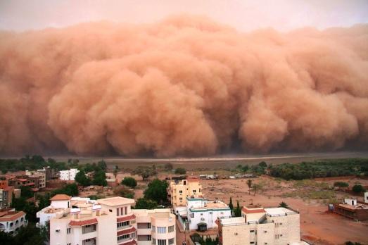 Moln sandstorm Karthoum